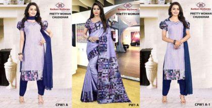 uniform-sarees-chudidhars-pretty-woman-2
