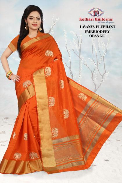 fus-lavanya-elephant-embroidery-orange